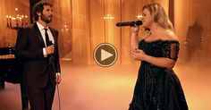 "Josh Groban And Kelly Clarkson Team Up For This Beautiful ""Phantom Of The Opera"" Duet."