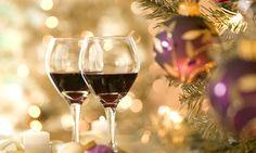 El vino en la mesa de Navidad