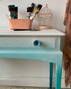 Create beautiful raised patterns with Dixie Belle Paint Companies 'Dixie Mud' Patterned Furniture, Painted Furniture, Painted Sideboard, Paint Companies, Dixie Belle Paint, Paint Effects, Mineral Paint, Milk Paint, Brass Handles