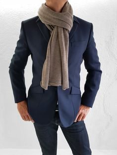 Grey Stone, Natural Brown, Fine Men, Wool Scarf, Merino Wool, Heather Grey, Scarves, Burgundy, Blazer