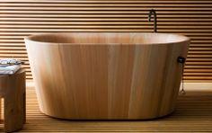 Badewanne Ofuro aus Holz - SCHÖNER WOHNEN News