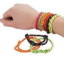 Pack of 12 - Retro Coloured Friendship Rope Bracelets - Great 80s Retro Party Loot Bag Fillers: Amazon.co.uk: Toys & Games