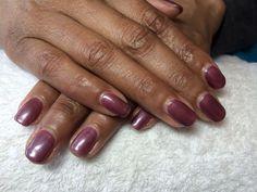 "CND Shellac ""Gotchya & Vexed Violet"" layered"