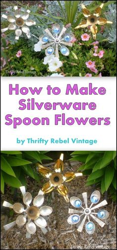 How to make silverware spoon flowers / thriftyrebelvintage.com