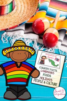 Learn facts about our neighbor Mexico. Students can create their own flipbooks filled with graphics to color and information to complete; $
