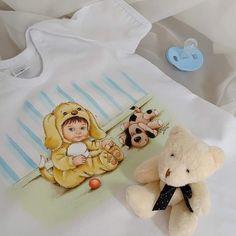 Pintura Online, Onesies, Teddy Bear, Toys, 1, Animals, Instagram, Fabric Painting, Angels