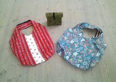 Dies war ein  Kundenwunsch,  2 Stoffshoper und ein Lunchbag.  Die Taschen können auch beidseitig genutzt werden.