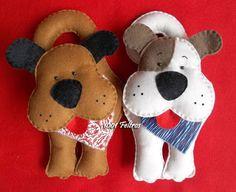 1001 Feltros: Cachorrinhos e convite para o bazar.