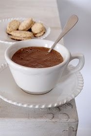 my french country home: paris in the rain - drinking hot chocolate