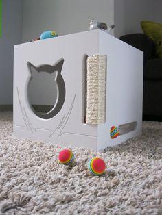 Ser cueva de muebles-Cat CAT-versión 4-gato-muebles-rascador