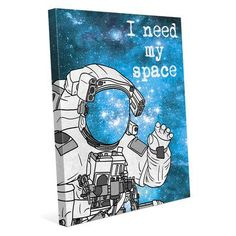 Click Wall Art 'Need My Space' Graphic Art on Wrapped Canvas Size: