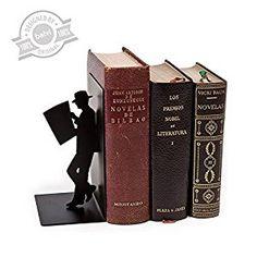 #afflink Amazon.com: Balvi - The Reader decorative metal bookend in black colour. Original design: Home & Kitchen