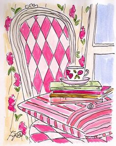 Fifi Flowers original artwork... as seen on ReadingisFashionable.com