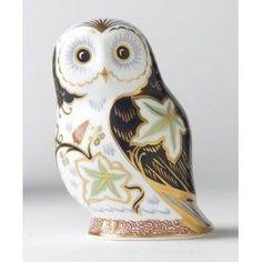 Royal Crown Derby Twilight Owl Paperweight:   Фарфоровые совы пресс-папье