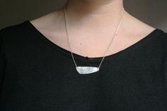 SHIZEN - Collar de plata de ley con textura hecha a mano