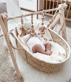 Natural woods and white nursery