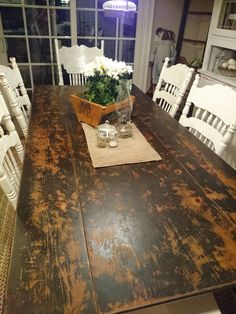 Folded Gingham: New Kitchen Table...