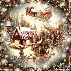 Christmas picture created by using the free Blingee photo editor for an. - Christmas picture created by using the free Blingee photo editor for animation. Merry Christmas Gif, Christmas Scenery, Christmas Past, Christmas Wishes, Christmas Greetings, Winter Christmas, Christmas Themes, Christmas Ecards, Royal Christmas
