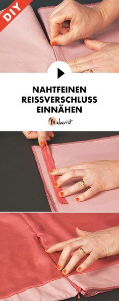 Nahtfeinen Reißverschluss einnähen lernen - Step by Step erklärt im Video-Kurs via Makerist.de