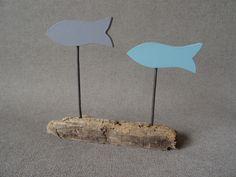 Décoration 2 poissons bois flotté : Accessoires de maison par c-driftwood-bois-flotte http://www.alittlemarket.com/boutique/c_driftwood-1849323.html