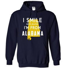 I Smile Because I am from Alabama Hoodie Thanhd T-Shirts, Hoodies, Sweatshirts, Tee Shirts (39.99$ ==> Shopping Now!)