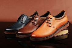 FGN Brand British Style Men's Genuine Leather Lace Up Oxfords Shoes A496150T
