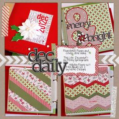 Planning for December Daily :: Tips for successfully planning & executing your December Daily album :: Sweet Shoppe Blog