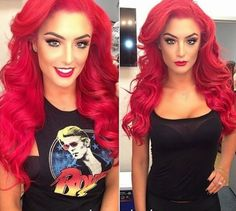Beautiful bright red hair color beauty