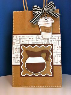Coffee gift bag using Love You a Latte cartridge