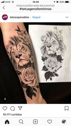 45 fabulous HAND TATTOOS for Men, See Also: 22 cutest butterfly tattoo ideas for girls Source Source Source Source Sourc. Leo Lion Tattoos, Lion Forearm Tattoos, Forearm Flower Tattoo, Dope Tattoos, Dream Tattoos, Body Art Tattoos, Small Tattoos, Lion Thigh Tattoo, Lion Tattoo Girls