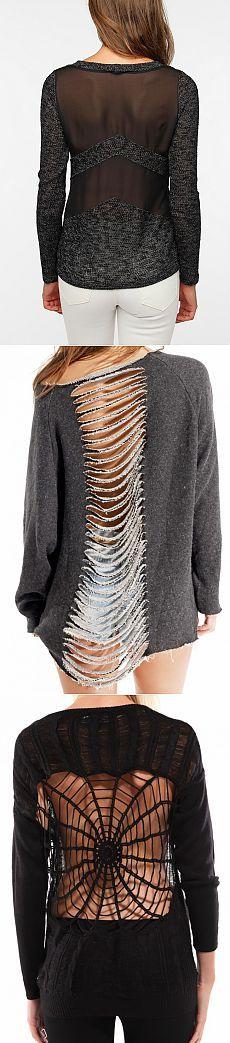 Спинки свитера (подборка) / Декор спины / Модный сайт о стильной переделке одежды и интерьера