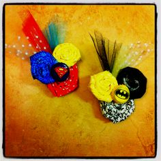 Superhero headbands for a friends party :) made by me :)