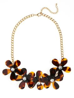 Floral + Sparkle + Tortoise Shell. What's not to love?
