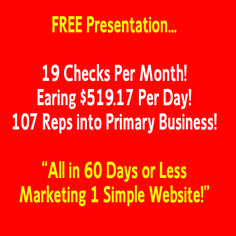 Personally Sponsored 107 Reps Into Primary Business in 60 Days