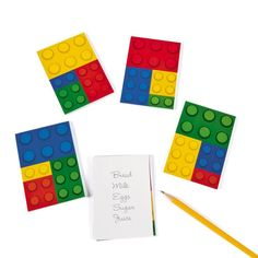 Amazon.com: Color Brick Party Notepads - 24 Count: Toys & Games