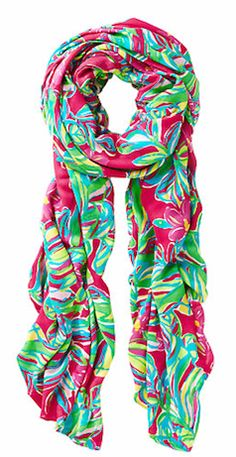 Lily Pulitzer patterned  scarf