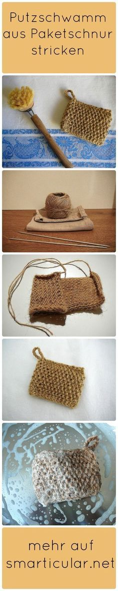 You don't always have to buy plastic sponges again. If you have some time to crochet or knit, make it yourself: from package cord! Informations About Küchenschwamm aus Paketschnur – ökologische Alternative zum Selbermachen Pin … Cardigans Crochet, Crochet Cardigan, Knit Crochet, Belleza Diy, Genius Ideas, Tutorial Diy, Kitchen Sponge, Diy Vanity, Some Times