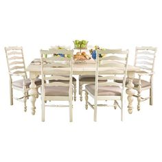 THIS is what I'm looking for for our dining room!!!!   Paula Deen - weathered dining room table  (Joss & main)