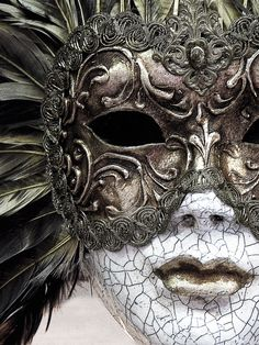 """We wear the mask. Venetian Masquerade Masks, Venetian Carnival Masks, Carnival Of Venice, Masquerade Ball, Kitsune Maske, Costume Venitien, Venice Mask, Art Sculpture, Beautiful Mask"