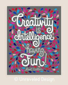 11x14-in Albert Einstein Quote Illustration Print. on Etsy, $35.00