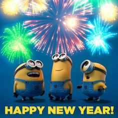 Happy New Year 2014 from Minions ! Happy New Year 2014 from Minions ! Amor Minions, Cute Minions, Minions Despicable Me, Minions Quotes, Minion Movie, Happy New Year Minions, Happy New Year 2014, Year 2016, Happy 2015