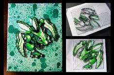 Pokemon's Scyther Perler Beads by Glugglor