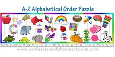 A-Z Aphabetical Order Puzzle