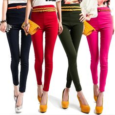 Women's High Waist Leggings Stretchy Pencil Pants/Trousers Free Shipping 240g