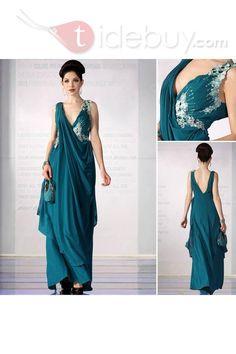 床まで届くの長さ 袖がない 手頃 既製品ドレス (1714868)
