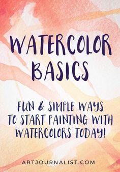 How to Paint With Watercolors: Watercolor Painting for Beginners 101 Want to learn how to paint with watercolors? It doesn't have to be frustrating! Here's 5 fun & easy watercolor painting techniques and 8 tips for beginners to help you get started! Watercolor Beginner, Watercolor Paintings For Beginners, Watercolor Tips, Watercolour Tutorials, Watercolor Techniques, Watercolour Painting, Abstract Watercolor Tutorial, Beginning Watercolor Tutorials, Abstract Art Paintings