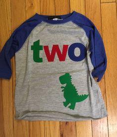 T Rex dinosaur birthday shirt 2nd birthday by BabyEmbellishments