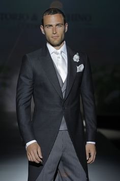 Morning coats are usually used in weddings and I like these a lot more than white ties. The main thing to keep in mind is this. Men's suit should always match the prestige of the woman's dress. So if you go with morning jacket make sure the woman has a princess dress.EverybodyLovesSuits for more ideas