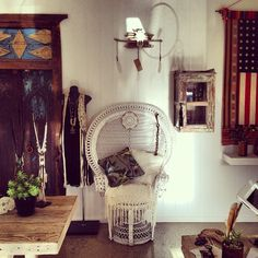New Peacock Chair at Spell Boutique