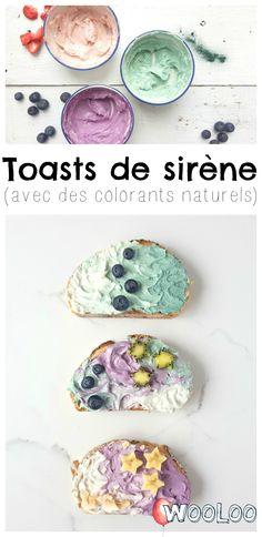 Essayez les Toasts de Sirène. Y'a rien de meilleur pour commencer la journée! #mermaid #enfants #kids #toast #recipe #recette